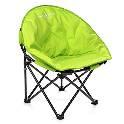Lucky Bums Moon Camp Kids Indoor Outdoor Comfort Lightweight Durable Chair with Carrying Case, Green, ()
