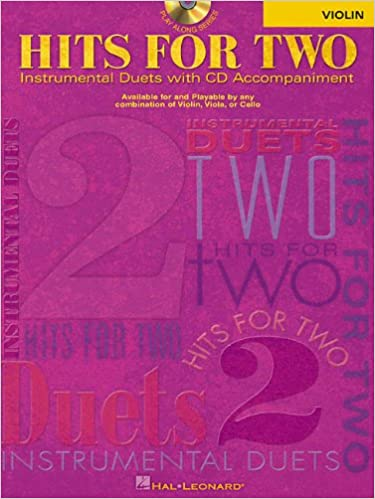 HITS FOR TWO VIOLIN CD/PKG   INSTRUMENTAL DUETS