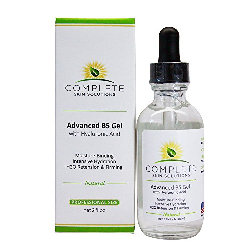 Advanced B5 Hydrating Gel With Hyaluronic Acid-2 oz Moisturizing & Hydrating Face Serum For Skin Rejuvenation–Nutritious Natural Formula With Firming, Plumping & Healing Properties