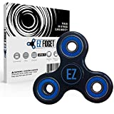 (US) 2017 Ultra Quiet & Smooth 2 minute spin, Stainless Steel 608RS ABEC 7 Bearing, Anti-Anxiety Fidget Spinner Helps Focus, Fidget Toy, Focus Toy for Kids & Adults. Relieves ADHD Anxiety & Boredom