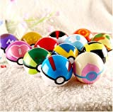 Moonideal 9 Pieces Different Style Ball +9 Pieces Figures Plastic Super Anime Figures Balls for Pokemon Kids Toys Balls
