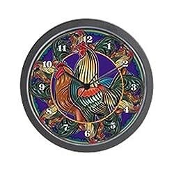CafePress - Rooster Wall Clock - Unique Decorative 10 Wall Clock