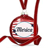 Christmas Decoration Merica Fourth of July America Stars and Stripes Ornament