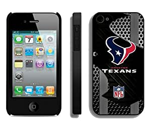 Fashion And Unique iPhone 4S Case Designed With Houston Texans Black iPhone 4S Cover