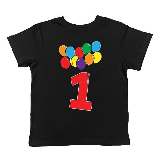 SpiritForged Apparel 1 Year Old Birthday Balloons Infant T Shirt Black 6 Months