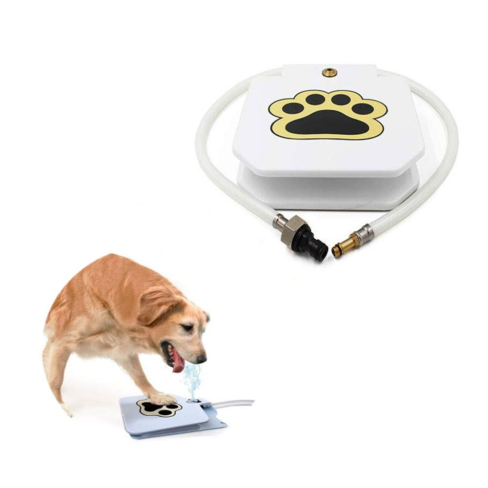 ZYZ Pet Dog Water Dispenser, Dog Interactive Paw Pedal Durable Leak-Proof Dispenser for Fresh Water Easy Activated Dog Fountain for Outdoor