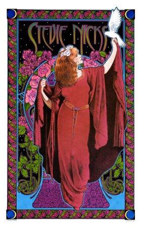 - Stevie Nicks, White Winged Dove Art Poster Print by Bob Masse, 15x24