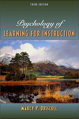 Marcy P. Driscoll: Psychology of Learning for Instruction (Hardcover - Revised Ed.); 2004 Edition