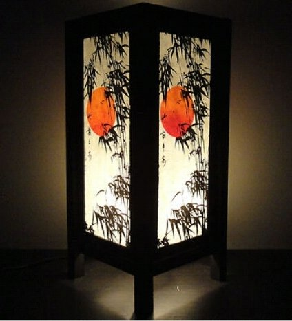 NAVA CHIANGMAI Thai Vintage DIY Handmade ASIAN Oriental Japanese Sunset Bamboo Tree Art Bedside Table Light Paper Lamp Shades Home Bedroom Garden Decor Modern Design by Mongkol Brand