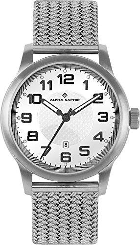 Alpha Saphir Reloj Analógico para Hombre de Cuarzo con Correa en Acero Inoxidable 132-6705-84: Amazon.es: Relojes