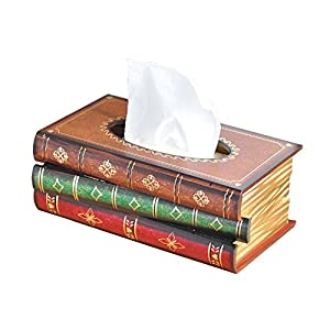 FOUNDOVE Scholaru0027s Antique Book Design,Elegant Hand Crafted Wood Bathroom  Facial Tissue Dispenser Box Cover / Novelty Napkin Holder/Wooden  Rectangular Paper ...