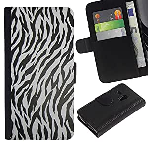 Planetar® Modelo colorido cuero carpeta tirón caso cubierta piel Holster Funda protección Para Samsung Galaxy S3 MINI / i8190 (Not For S3) ( Zebra Pattern Animal Texture )