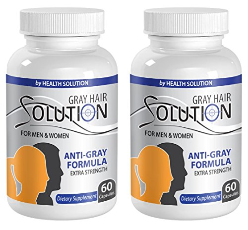 Catalase supplement - GRAY HAIR SOLUTION FOR MEN AND WOMEN - Anti gray hair  pills (2 Bottles 120 Capsules)