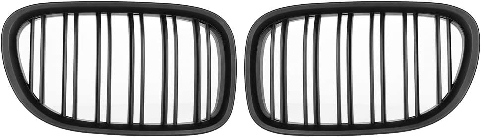 1 Pair of Black Gloss Style Front Bumper Grill Grille for BMW F01 F02 7-SERIES 730d 740i 750i 09-17. Bumper Grille