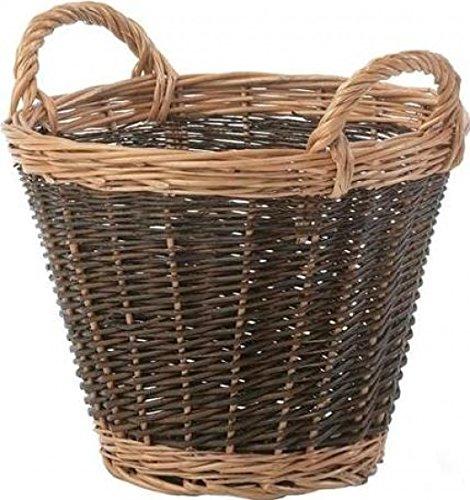 Stow Green Wicker Heavy-Duty Log Basket - Small