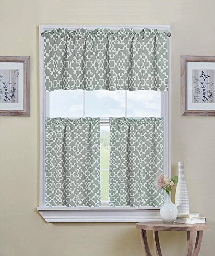 Green Curtains amazon green curtains : Kitchen Curtains and Valances: Amazon.com