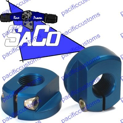 Saco Usa Made Clamp Style Billet Spindle Nuts For King And Link Pin, Combo Link, King Kong Spindles