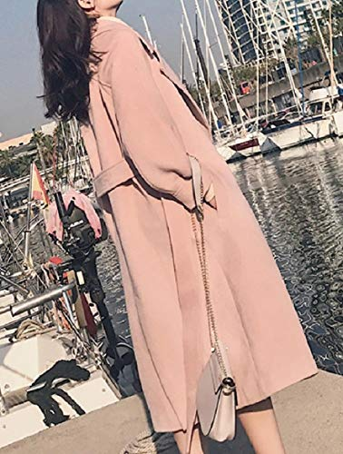 Thicken Pink Howme Turn Down Skinny Collar Women Outwear Parka Design Belted vvqxg0Z