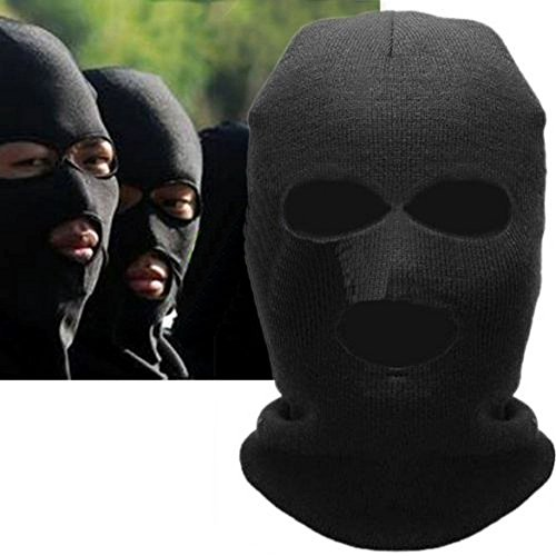 Winter Warm 3 Hole Knit Ski Mask Balaclava Snowboard Full Face Mask Beanie Neck Warmer Skiing Snowboarding Cycling Riding Neckwear Headgear Outdoor Sport Full Facemask (Creepy Clowns Pictures)