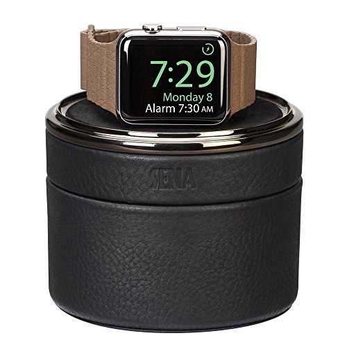 Sena Premium Stand Case (Sena Watch Case, European leather watch stand and travel case for the Apple Watch - Black)