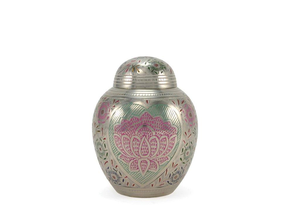 (40 Cubic Inches) Near & Dear Pet Memorials Lotus Heart Pet Cremation Urn