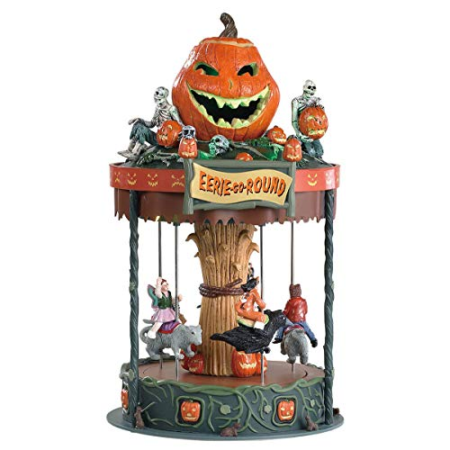 Lemax 2018 EERIE-GO-ROUND Halloween Moveable Merry Go Round With Sound