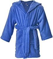 EPYA Kids Boys Girls Plush Kimono Robe Velvet Fleece Bathrobe