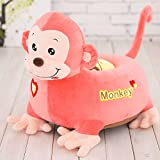 MeMoreCool Cute Cartoon Pink Monkey Children Plush Cartoon Sofa,Kids Removable Cover Toy Chair for Christmas/Children's day Gifts