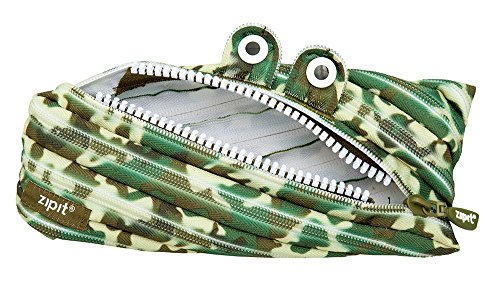 ZIPIT Camo Monster Pencil Case, Green Photo #4