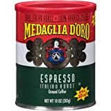 Medaglia D'Oro Italian Roast Espresso Ground Coffee 10 oz (Pack of 12)