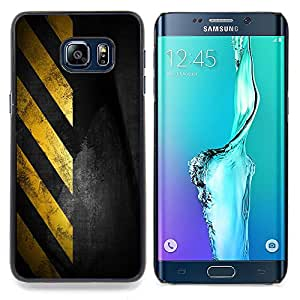For Samsung Galaxy S6 Edge Plus - Traffic Sign Yellow Tape Black Stripes /Modelo de la piel protectora de la cubierta del caso/ - Super Marley Shop -