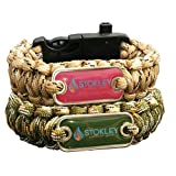His and Hers Stokley Outdoor Gear 5 in 1 Paracord Bracelets. Fire Starter, Compass, Emergency Whistle, Rope and Knife/Scraper all in one.