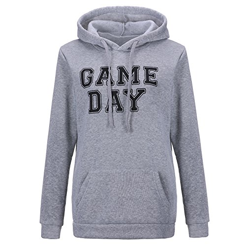 Game Day Hoodie - Hengguang Women's Casual Game Day Print Gamer Console Sports Hoodie Sweatshirt Grey XL