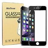 MuStone Screen Protectors for iPhone 7 plus iPhone 8 plus, 3D Full Screen Frame Edge to Edge Tempered Glass Edge for iPhone 7 Plus 8 Plus Tempered Glass Screen Protectors 5.5'' (Black)