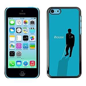 A-type Arte & diseño plástico duro Fundas Cover Cubre Hard Case Cover para iPhone 5C (IHouse - cartel divertido)