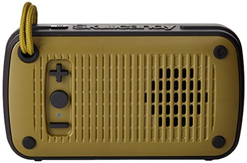 Skullcandy Ambush Water-resistant Drop-proof Bluetooth Portable Palm Speaker, Olive and Black