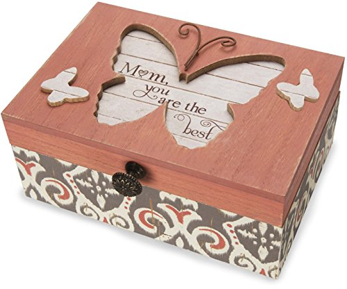 Pavilion Gift Company 41100 Simple Spirits - Patterned Butterfly Mom What A Wonderful World Musical Jewelry Box ()