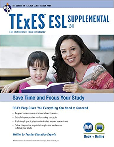 texes esl supplemental (154) book + online (texes teacher ...