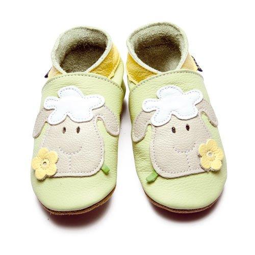 Inch Blue–Schuhe für Babys, Motiv: Schaf, Farbe: Hellgrün 6 / 12 mesi 6 - 12 mesi 6 - 12 mesi