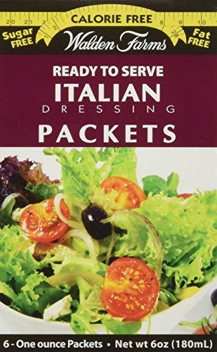 Walden Farms, Italian Dressing, 6 Packets, 1 oz ()