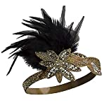 Zivyes 1920s Accessories Headband Necklace Gloves