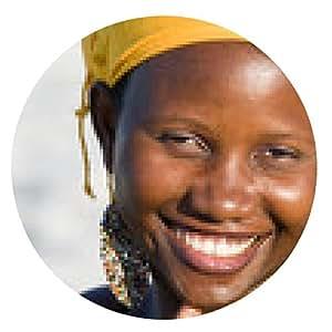 alfombrilla de ratón Retrato de una bella mujer africana sonriente - ronda - 20cm