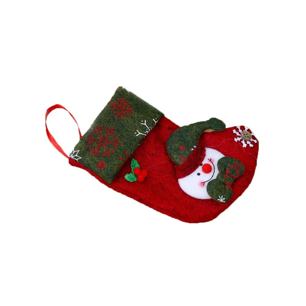 WeiYun Merry Christmas Plush Tree Hanging Gift Candy Small Socks Decoration