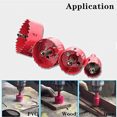 Kewing 210mm Hole Saw M42 HSS Bi-Metal Circular Hole Cutter with Hexagon Adapter and Centering Drill