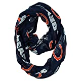 1 Piece Nfl Bears Scarf 70 X 25 Inches, Football Themed Woman Accessory Sports Patterned, Team Logo Fan Merchandise Athletic Team Spirit Fan Navy Blue Orange White, Polyester