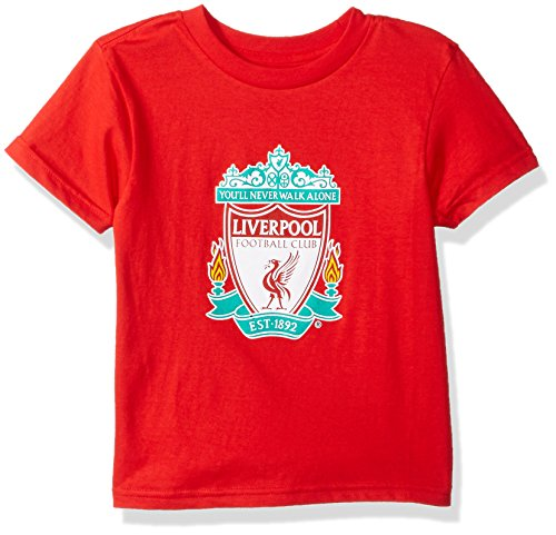 International Soccer Liverpool Youth Boys Team Logo Short Sleeve Tee, Xl(18), Red