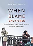 When Blame Backfires: Syrian Refugees and Citizen