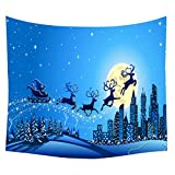 """Startview New Fashion 59.1""""×47.2"""" Merry Christmas Beach Cover Up Tunic Tapestry Tablecloth Home Decor (F)"""