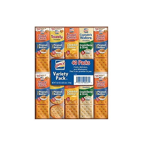 Lance Sandwich Crackers, Variety Pack 40 pk. (pack of 4) A1
