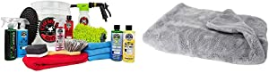 Chemical Guys HOL148 16-Piece Arsenal Builder Wash Kit with TORQ Blaster Foam Gun, Bucket and (6) 16 oz Care Products + Guys MIC_1995 Woolly Mammoth Microfiber Dryer Towel (25 in. x 36 in.)
